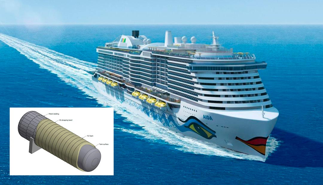 LNG Fuel Tank Insulation for cruise and passenger vessels